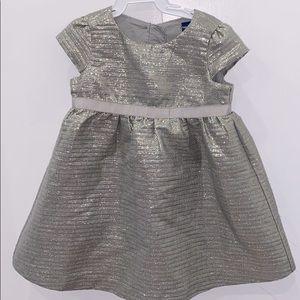 Silver shimmer beautiful dress!Jeweled back closur
